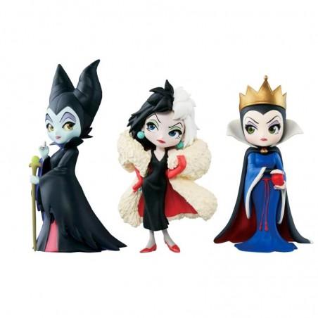 3 Figuras de Coleccion Malvadas Disney Malefica Cruela y La Reina
