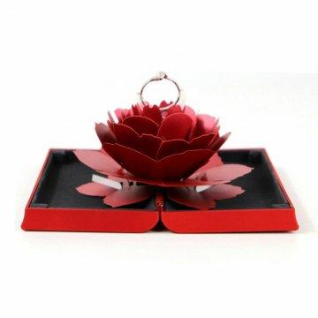 Caja Anillo Rosa 3D Joyería...