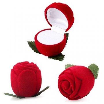 Caja Joyería Rosa Roja...