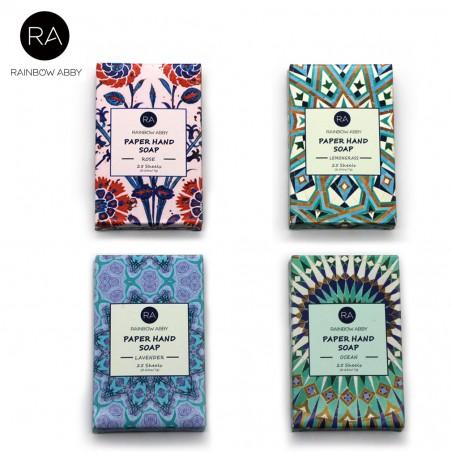 4 Cajas Jabón Portátil Papel Refrescante Aromas Diferentes